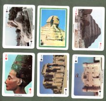 Souvenir Collectible playing cards. deck scene of Egypt